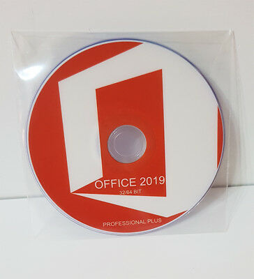 Dvd - Office 2019 Professional Plus 32/64 Bit Full [Italiano] *new*