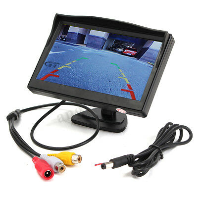 """5"""" Car Parking Monitor Screen TFT LCD Rearview Reverse for Backup Camera Kit"""