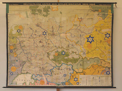 Schulwandkarte Greater Germany German Reich Third 33-45 240x189 1963 Vintage