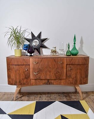 Lovely Art Deco Walnut Sideboarddesigned by British furniture makers Beautility