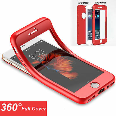 360° Full Cover Protective Shockproof Soft Case Cover For iPhone 6S 7 8 Plus X