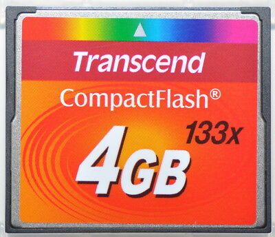 Transcend 4GB 133x CF Karte Compact Flash Card Speicherkarte TOP