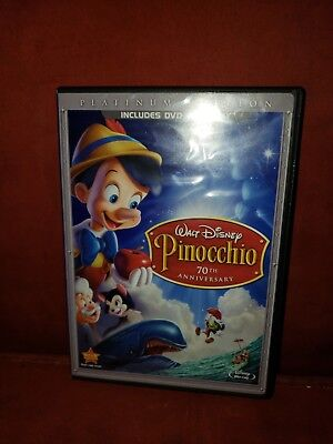 Disney's PINOCCHIO 70th Anniversary Platinum Edition dvd/blu-ray