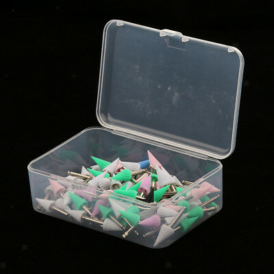 100PCS Screw on Type Disposable Dental Prophy Cups Brush Pointed Polisher