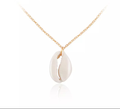 Summer Beach Party Gold Conch Havaiian Shell Pendants Necklace Valentines Day
