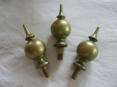 3 Wooden Gilded Gold Longcase Clock Finials
