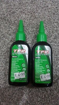 2 x WELDTITE TF2 EXTREME WET LUBRICANT 75ml CYCLE BICYCLE LUBE