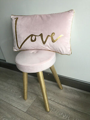 Blush Pink Gold Silver Wedding Table Seat Foot Stool Chair Seat Next Day Post