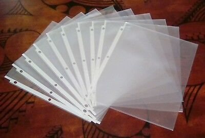 """50 Clear Matte Plastic Page Protectors for 8 1/2"""" x 11"""" Paper Three Ring Binders"""