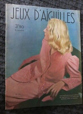 Jeux D'Aiguilles January 1940 Wartime French Fashions with free gift