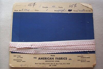 Vtg Embroidered Trimming Lace for Doll Crafts America Fabric Co.