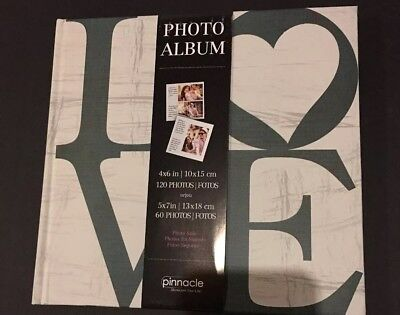 Photo Album Pinnacle 4 x 6 or 5 x 7 NEW 120 Photos Or 60 Photos Photo Safe LOVE