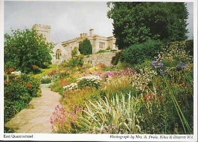 East Quantoxhead, Somerset - garden - local postcard c.1980s