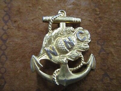 "Original  WWII U.S. Navy NNC ""Navy Nurse Corps"" Sterling Officer Collar Pin Back"