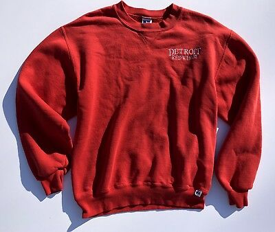 buy online 75482 d3d5d VINTAGE DETROIT RED Wings Sweater - 80s 90s - M - Made In USA - Russell  Athletic
