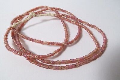 Alte Seed beads African Trade IH8 3mm rosa Opalglas beads Afrozip