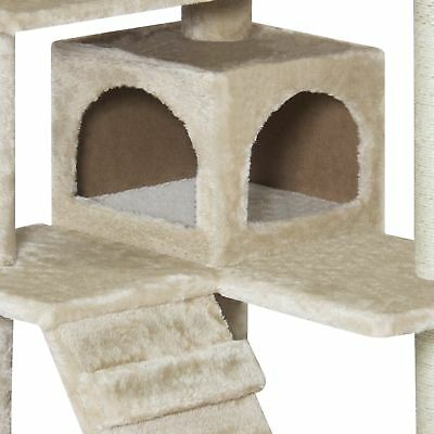 Best Choice Products 53in Multi-Level Cat Tree Scratcher Condo Tower, Beige