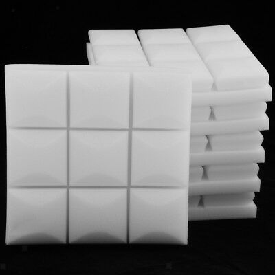 6 Pcs Acoustic Foam Sound Proofing Isolation Panels for Home Studio White