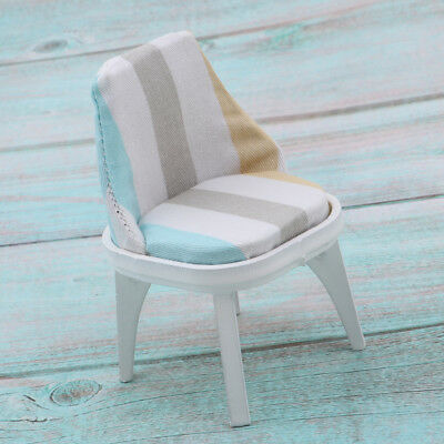 Miniature Floral Wooden Chair Stool Dining Room Furniture 1/12 Dollhouse B