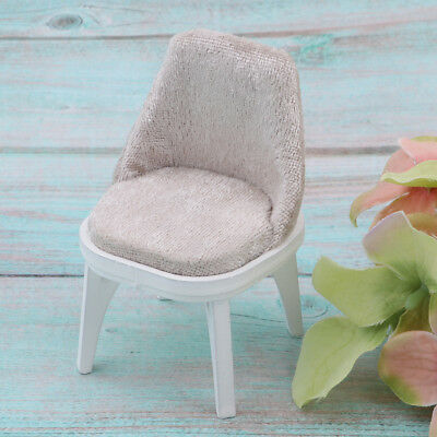 Miniature Floral Wooden Chair Stool Dining Room Furniture 1/12 Dollhouse C