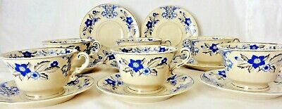 Vintage Syracuse China Old Ivory Lady Mary Set of 6 Coffee Cups & 8 Cup Saucers