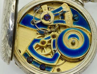 WOW! MUSEUM Qing Dynasty Chinese Duplex silver watch.Erotic dial.Enamel movement