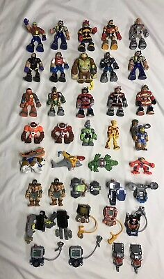 Rescue Heroes Action Figures Lot Accessories Vehicles Animals Fisher Price Toys