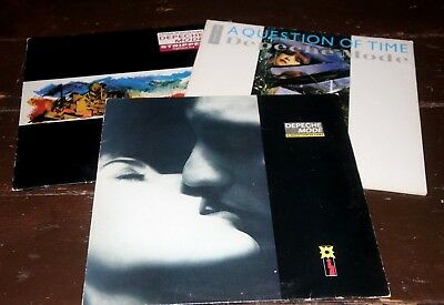 """Depeche Mode -3 X 12"""" Vinyl Records -  Stripped , Question Of Lust,question Time"""