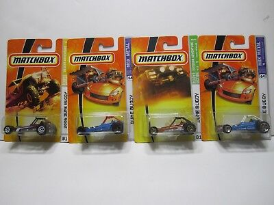 Matchbox (4) Dune Buggy, Different Colors, Series, and Years
