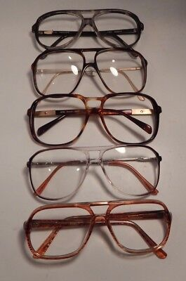 Vintage 5 Pc. Double Bridge Men's Plastic Eyeglass Frame New Old Stock  #278/8
