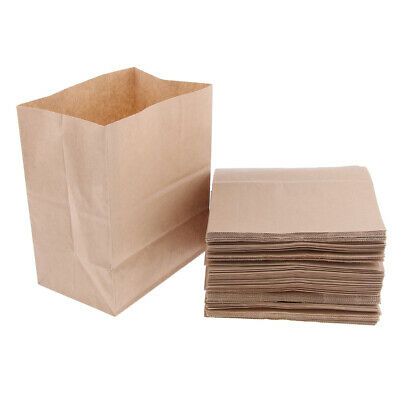 Oilproof Kraft Paper Food Packing Lunch Box Takeout Bags, Natural Color