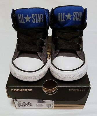 Converse Chuck Taylor Infant/Baby High Street Sneakers - Blue/Gray - Size: 8 EUC