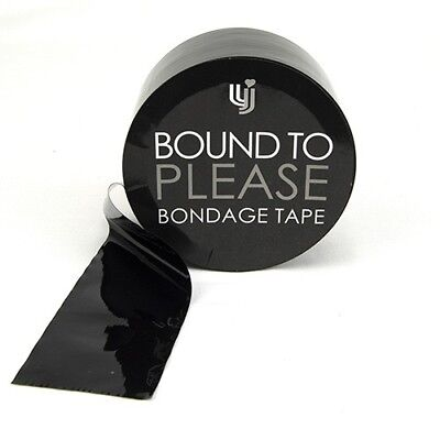 Bound to Please Black Adult PVC Bondage Tape Hen Stag Novelty Gift 50mm x 20m