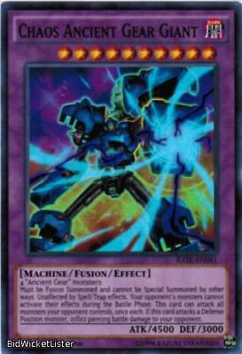 Chaos Ancient Gear Giant NM 1st Ed YuGiOh RATE 041 Raging Tempest TCG Super Rare