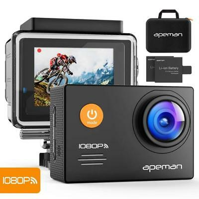 APEMAN Action Camera WiFi 14MP 1080P FHD Sports 2.0 inch LCD Display & 170...