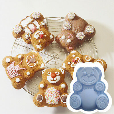 Bread Mould 1PC Bear Shape Silicone Chocolate Mold Baking Pan Cake Decorating