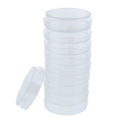 10 Pcs Lab Clear Plastic Petri Dish Sterile Cell Culture Dish with Lid 60mm
