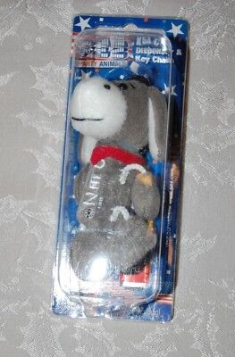 New in Box 2006 Pez Dispenser Plush Party Animal Donkey Key Chain