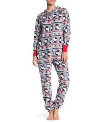 a360a87b87 HELLO KITTY ~ One Pc Union Suit Jumper Pajamas ~ Ladies Women s ~ L Large ~