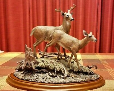 Resin Deer Buck Statue Sculpture Figurine