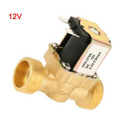1/2inch DC 12V Electric Solenoid Valve Air Water Gas Brass N/C Normal Closed New