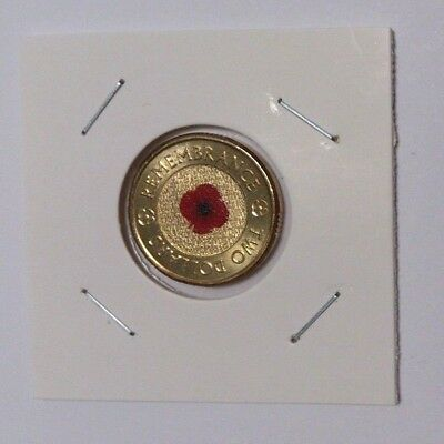 2012 $2 Red Poppy Remembrance Coin (UNC)