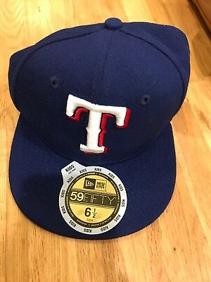337fea846a6 MLB Texas Rangers Cap Authentic On Field Hat 59FIFTY New Era Fitted Kids USA