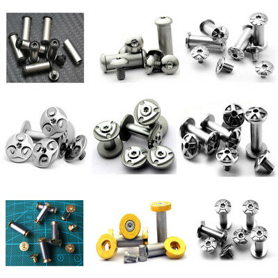 DIY Material Knife Handle Rivets Screw Bolt Nut Brass Steel Scale Fastening New