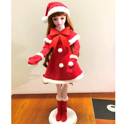 1/3 BJD Doll Clothes Christmas Dress Hat Outfits for Night Lolita BJD Doll