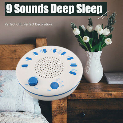 Relax Machine Deep Sleep Solution Nature Noise Baby Peace Therapy W/ 9 Sound AU