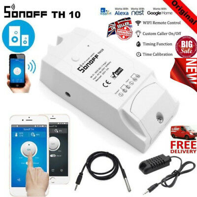 Sonoff TH10/TH16 temperature & humidity smart WIFI Switch Module Time Sensor UK*