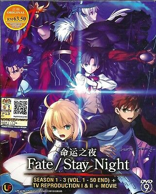 Anime DVD Fate Stay Night Sea 1 - 3+ TV Reproduction 1 & 2 + Movie Japan BP190