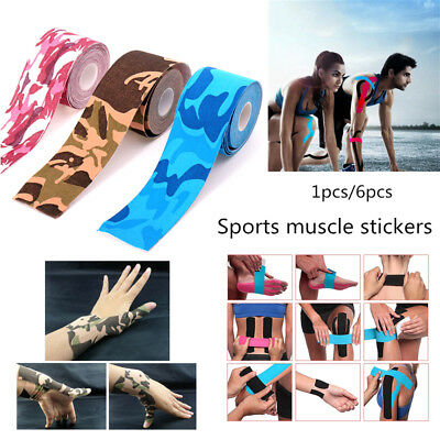 Kinesiology Sports Tape Roll Knee Shoulder Body Strain Injury Muscle Stickers