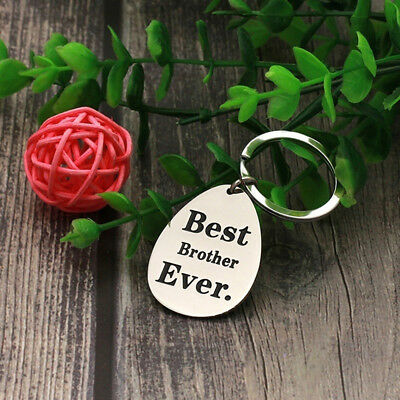 Family Jewelry Lettering Best Brother/sister Ever Pendant Key Chain Gifts 6A